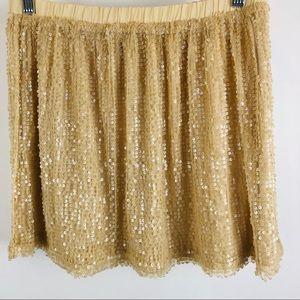 Forever 21 XXI beige sequin skirt